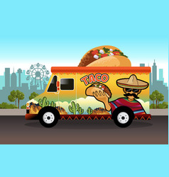 Taco food truck vector
