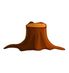 Tree stump icon cartoon style vector