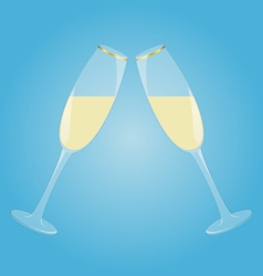 Two glasses with sparkling wine vector image