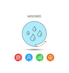 water drops icon rain or washing sign vector image