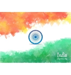 Watercolor background for Indian independence day vector