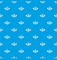 Zombie hunting pattern seamless blue vector