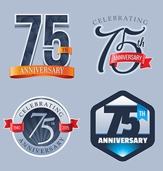 75 Years Anniversary Logo vector image vector image