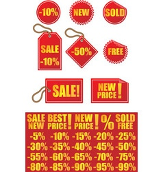 Advertising signs labels and stickers vector image vector image