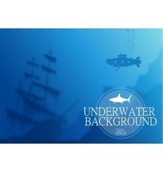 Blurred underwater background vector image vector image