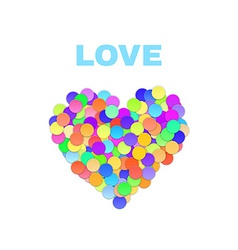 Colorful Confetti Heart vector image vector image