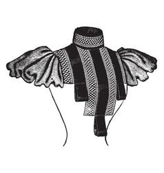 Fancy york has a fancy collar dress vintage vector