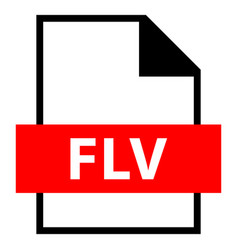 file name extension flv type vector image vector image