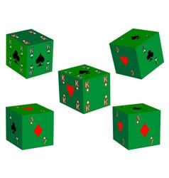 five dice vector image vector image