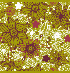 Floral seamless pattern with flowers vector