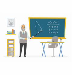 geometry classroom - male teacher composition at vector image