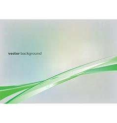 Green lines vector image