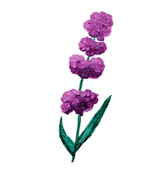 Oil painted lavender vector image