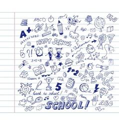 School pattern vector image vector image