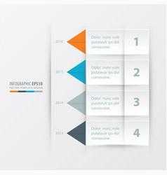 Timeline report template orange blue gray vector