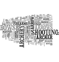 archery text word cloud concept vector image vector image