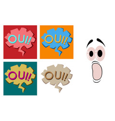 assembly of flat icons on theme comic speech vector image vector image