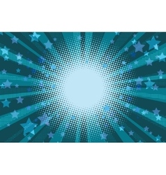 Night stars holiday blue pop art background vector image vector image