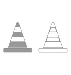 road cone it is black icon vector image vector image