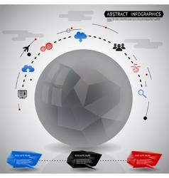Abstract Geometric Ball Infographics Icons vector image vector image