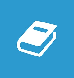 book icon white on the blue background vector image vector image