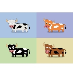 Cartoon cow set vector image vector image