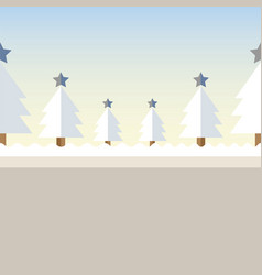 christmas tree background snow vector image
