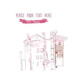 city line landscape sketch style vector image