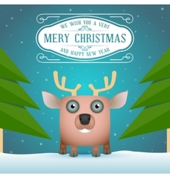 Funny Cartoon Deer vector image vector image