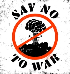 no war sign vector image vector image