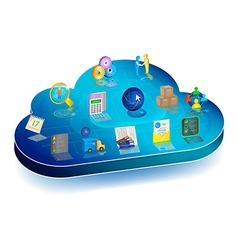 Online business process management in cloud vector image