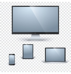 Realistic gadgets template vector image