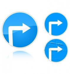 road signs vector image vector image