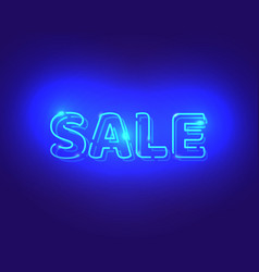 Sale white neon electric letters vector