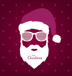 santa claus with glasses shutter shades vector image