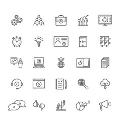 thin line set of education and e-learning isolated vector image