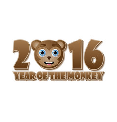 2016 year monkey chinese animal sign vector image