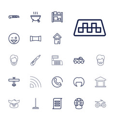 22 set icons vector