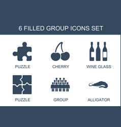 6 group icons vector