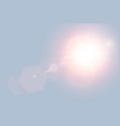 Abstract golden front sun lens flare translucent vector