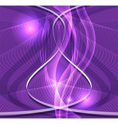 Abstract purple waved background vector
