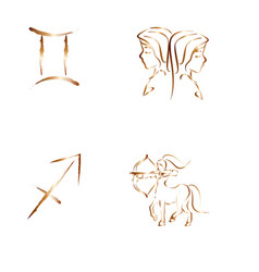 abstract zodiac symbol vector image