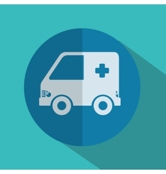 Ambulance medical isolated icon vector