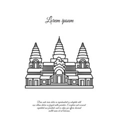 Angkor wat icon isolated on white vector