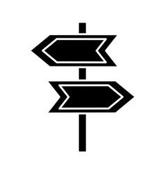 arrow road sign icon vector image