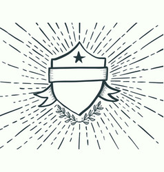 badge drawn style vector image