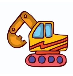 Big excavator cartoon collection stock vector image