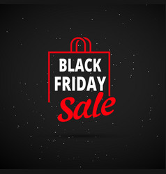 black friday sale background gift icon vector image