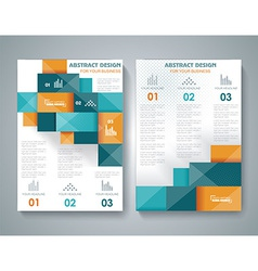 brochure template design with 3d elements vector image