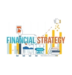 Business analysis financial report and strategy vector image